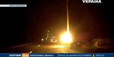 Стали відомі подробиці погоні за прикарпатським водієм, яка закінчилась вибухом автівки. ВІДЕО