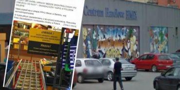 Власника польського супермаркету змусили забрати скандальну табличку про перевірку покупців з України