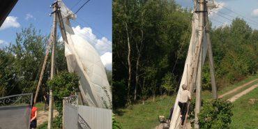 Невдале приземлення: в Коломиї парашутист зачепився за лінії електропередач. ФОТО