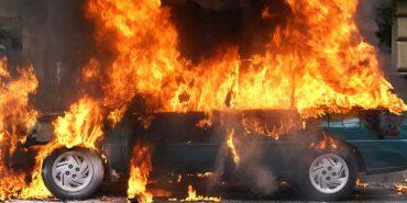 У Нижньому Вербіжі гасили пожежу автомобіля