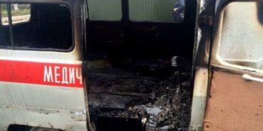"""На Західній Україні згоріла """"швидка"""", яка їхала на виклик"""
