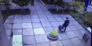 У мережу виклали відео викрадення дитини з столичного садка. ФОТО+ВІДЕО