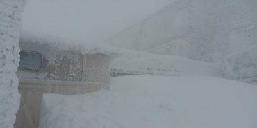 На горі Піп Іван через снігову бурю видимість 20 метрів. ФОТО