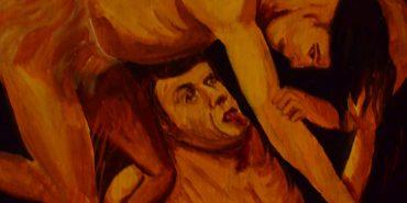 У Коломиї в церкві Благовіщення знайшли ікону голого Ющенка в пеклі. ФОТО
