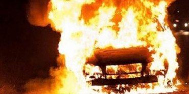 На Коломийщині згорів вантажний бус