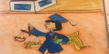"""""""Суд очима дитини"""": У Коломийському суді триває виставка дитячих малюнків"""