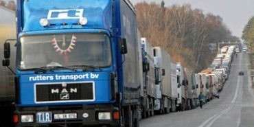 На польському кордоні утворилася 20-кілометрова черга. ВІДЕО