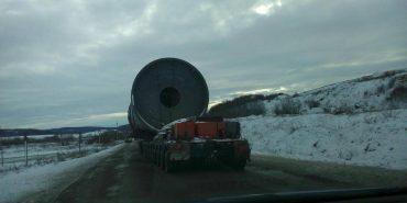 Дорогами Франківщини везуть 200-тонну центрифугу – можливе обмеження руху. ФОТО
