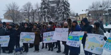 На Франківщині протестують проти виборів у Криму