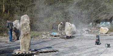 На Прикарпатті розпочав свою роботу Міжнародний скульптурний симпозіум. ФОТО