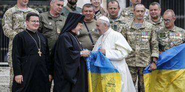 Папа Франциск зустрівся з українськими військовими. ФОТО+ВІДЕО