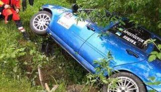 У Карпатах під час гірських гонок перекинувся автомобіль. ФОТО+ВІДЕО