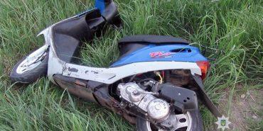 На Франківщині перекинувся скутер, постраждала 14-річна пасажирка. ФОТО