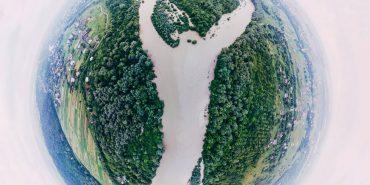 Франківський фотограф зробив неймовірні світлини злиття двох річок. ФОТО
