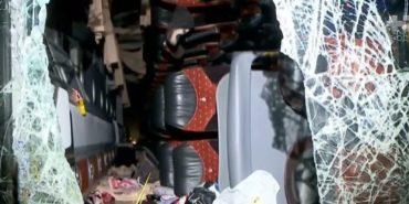 Автобус з українцями, які поверталися з Болгарії, потрапив у ДТП. ВІДЕО