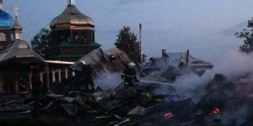Стали відомі подробиці пожежі церкви на Франківщині. ФОТО