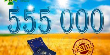 За перший рік безвізом скористалися 555 тисяч українців