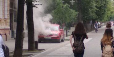 На Франківщині загорівся автомобіль. ФОТО+ВІДЕО