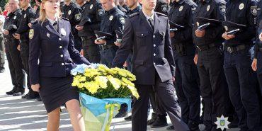 На Прикарпатті поліція урочисто відзначила третю річницю з дня створення. ФОТО