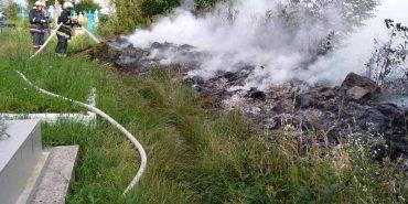 Городенківські рятувальники двічі гасили пожежу сміття. ФОТО
