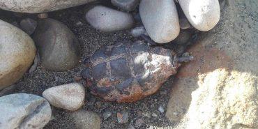 На Івано-Франківщині на березі річки знайшли ручну гранату. ФОТОФАКТ