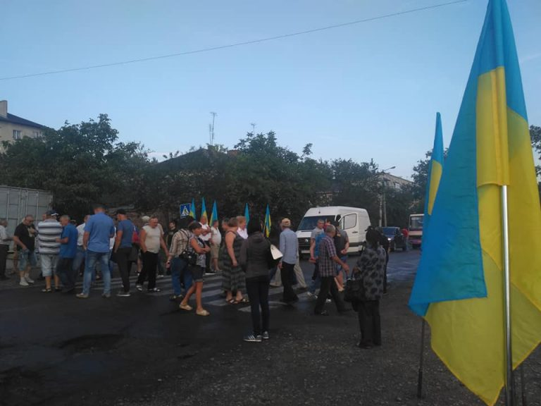 На Прикарпатті заблокували дорогу державного значення, яка пролягає через Коломию. ВІДЕО