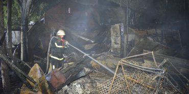 У курортному Коблевому вночі знову гасили пожежу: врятовано дві бази і ресторан. ФОТО