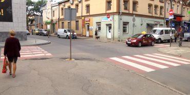 У Коломиї пішохідні переходи стали двоколірними. ВІДЕО