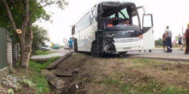 Біля Коломиї автобус з туристами з'їхав у кювет. ФОТО+ВІДЕО