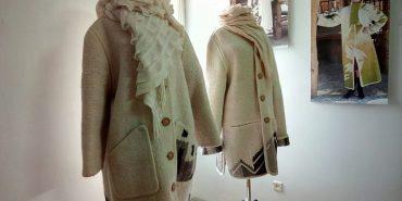 Дизайнерські пальта за технологією гуцульського ліжника від подружжя з Коломиї. ФОТО