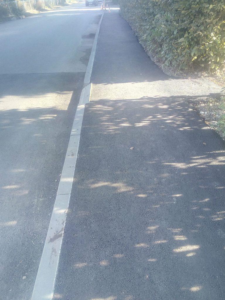 Відновили частково дорогу і тротуар по вул. Моцарта