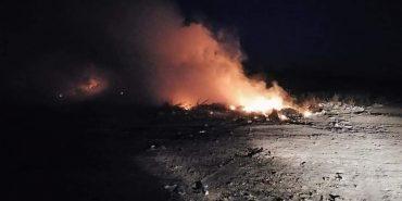 На Городенківщині вночі горіло сміття. ФОТО