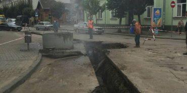 Коломия не має грошей на ремонт перекопаних вулиць Валової і Чорновола