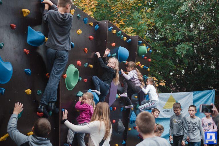 У Коломиї відкрили скеледром за кошти громадського бюджету. ФОТОРЕПОРТАЖ