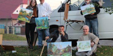 До Дня художника коломийські митці малювали осінні краєвиди. ФОТО