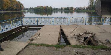На міському озері в Коломиї встановлять новий оглядовий майданчик замість демонтованого