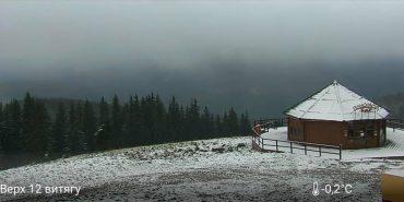 Буковель вкривається снігом. ФОТОФАКТ