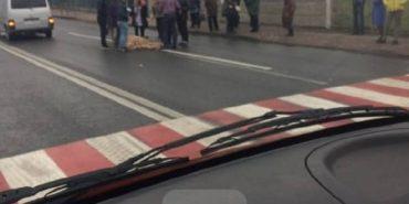 На Прикарпатті мікроавтобус збив жінку. ФОТО
