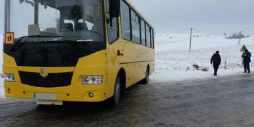 На Франківщині шкільний автобус з 24 дітьми з'їхав у кювет. ФОТО