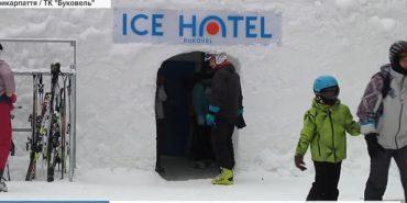 У Карпатах запрацює справжній готель, збудований зі снігу та льоду. ВІДЕО