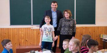 Андрій Іванчук у Коломиї відвідав школу, де навчався. ФОТО