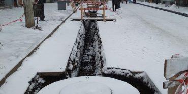 На вулиці Чорновола у Коломиї триває реконструкція водогону. ФОТОФАКТ