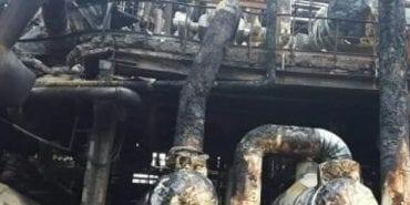 """У мережі з'явилися фото """"Карпатнафтохіму"""" після масштабної пожежі. ФОТО"""