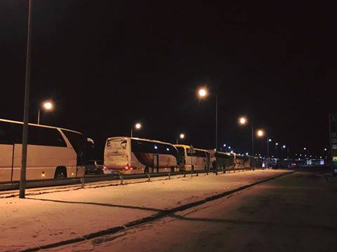 На кордоні з Польщею величезні черги