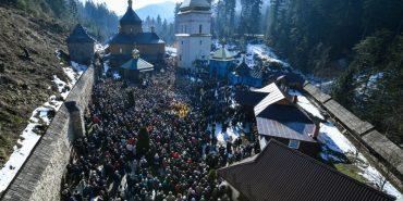 Президент України Петро Порошенко і Митрополит Епіфаній привезли Томос до Манявського чоловічого монастиря ПЦУ
