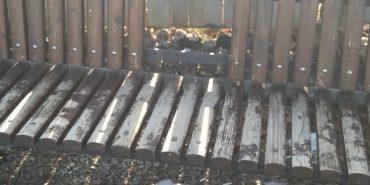 Понищено лавку на міському озері