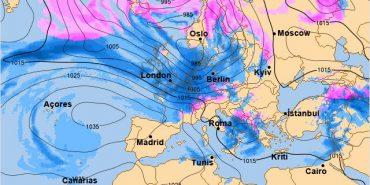 На Україну насувається північний циклон Franz і антициклон Gabi