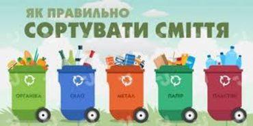 Як правильно сортувати сміття і що куди класти. Інфографіка