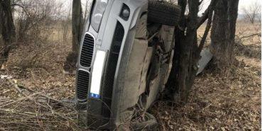 Аварія на тисменицькій трасі: BMW перекинулося на бік. ФОТО