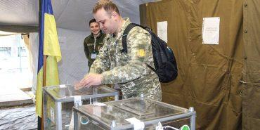 Вибори в зоні ООС. Як голосували військові. ФОТО